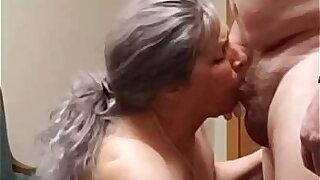 Milf Jucee Hotwife gives boss a blowjob.